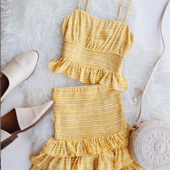 Anthropologie Dresses & Skirts - Nectar Clothing Chasing Sunshine Gingham Set